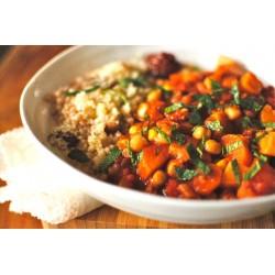 Tuniský cícer so zeleninou a kuskusom