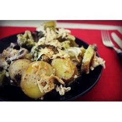 Zapekané zemiaky s cuketou - štvrtok 6.10.2016