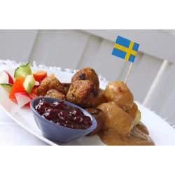 """Švédske """"mäsové"""" guličky"""