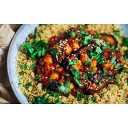 Marocký baklažán s cícerom