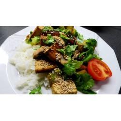 Ružičkový kel s tofu a hríbami