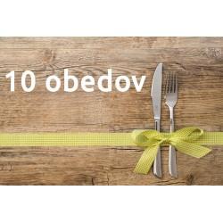 Darčekový poukaz 10 obedov